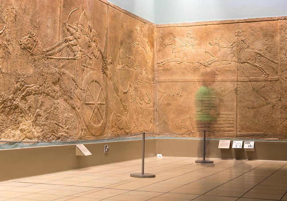 De assyriske løvejaktrelieffene, British Museum