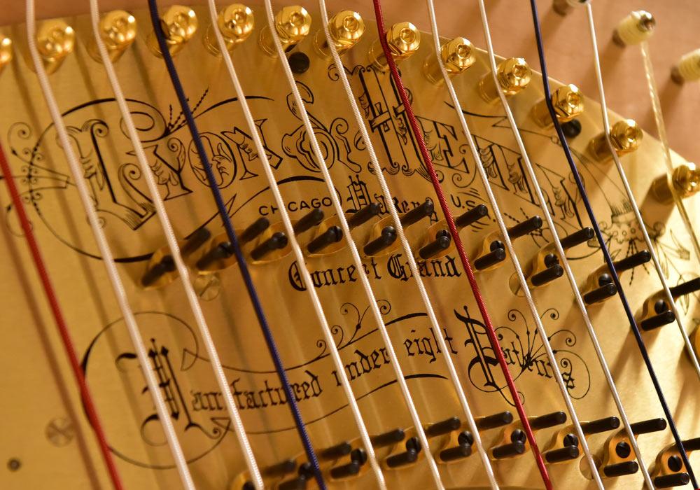 Harpe laget av Lyon & Healy. Foto: Per-Erik Skramstad