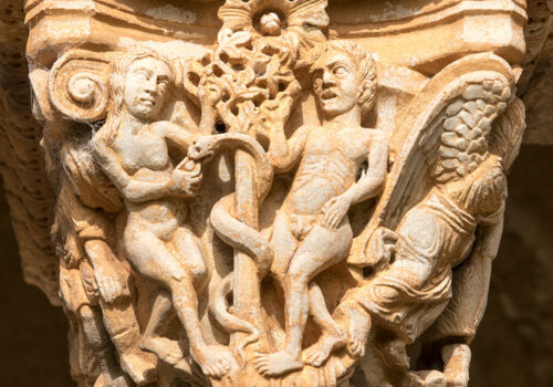 Kapitel Monreale kloster: Adam og Eva