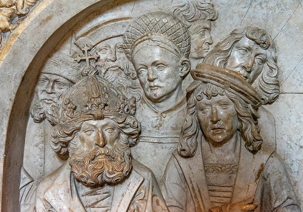 bamberg-katedralen: sarkofag nærbilde