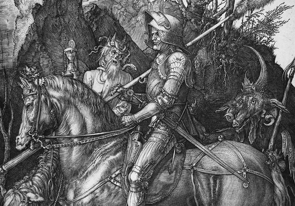 Albrecht Dürer: Døden og lanseknekten (1513)