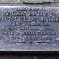 Tøger Ludvig Raugtvedt Ingier - gravminne av jern på Skedsmp kirkegård