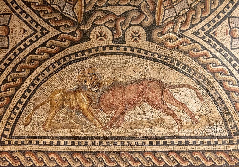 Trier Landesmuseum romersk mosaikk 200-tallet