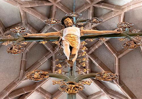 Krusifiks i St. Lorenskirche i Nürnberg