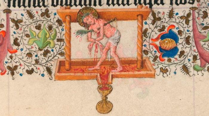 Smertemannen Kristus i vinpressen