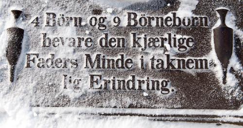 minneord gravstein Fet kirkegård