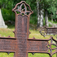 Jernkors Uvdal stavkirke (støpejern)
