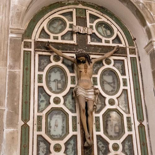 Crucifix med relikvier Palermo: San Giorgio dei Genovesi
