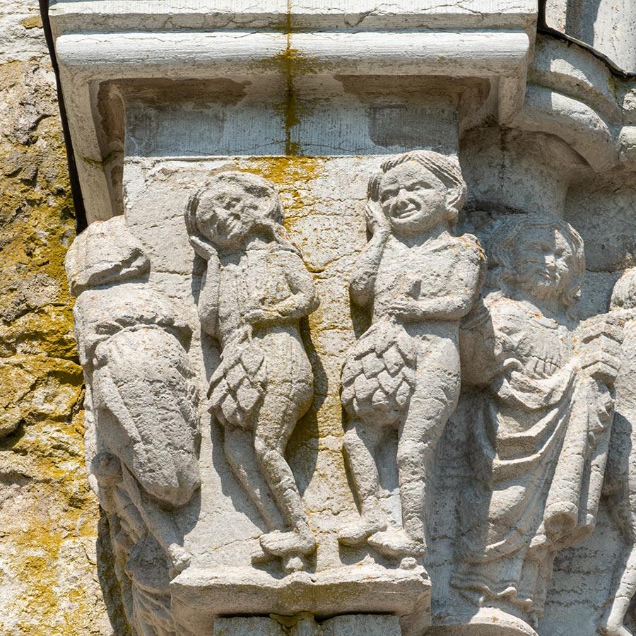 Syndefallet, Gammelgarns kirke på Gotland