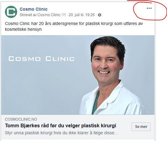 Facebook-annonse eksempel