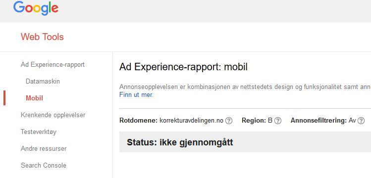 Google Search Console: Ad Experience Repost