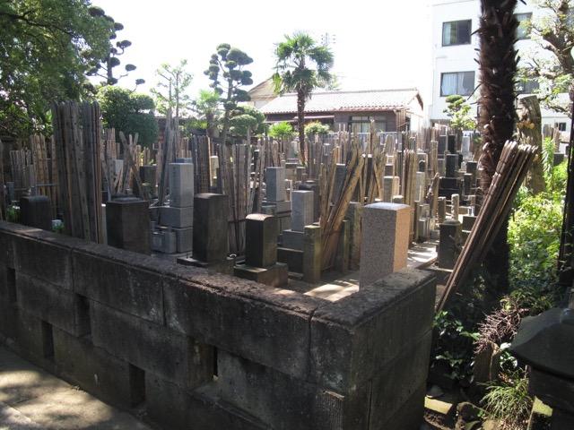 Yanaka gravplass i Tokyo, Japan
