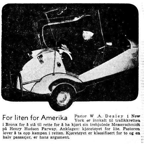 Arbeiderbladet 1956 Messerschmitt