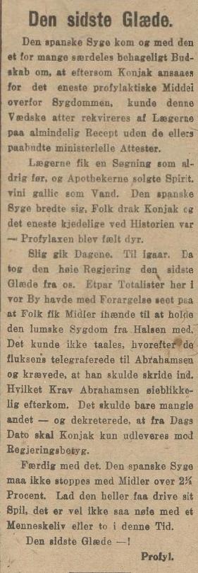 Spanskesyken 18.7.1918