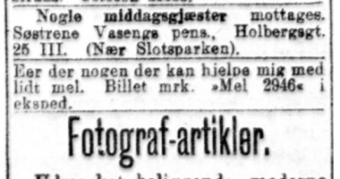 Avisutklipp fra Aftenposten 1918