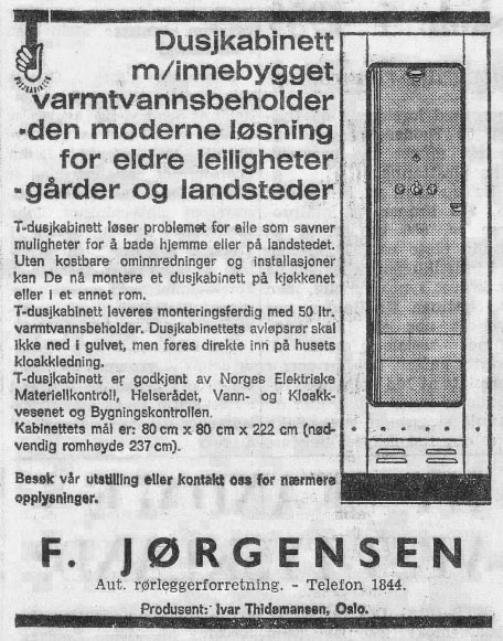 dusjkabinett - Halden Arbeiderblad