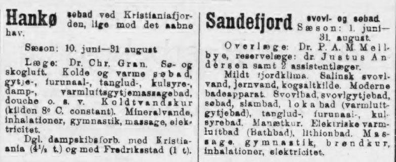 Varmluftsgytjemassagebad - Hankø søbad