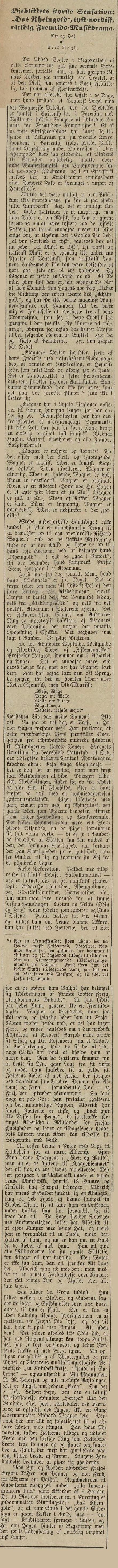 Wagners Rheingold: Fredriksstad Tilskuer 1876.08.22